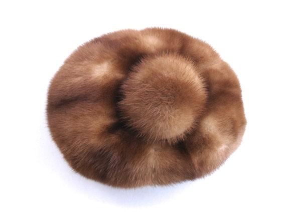 1960s Brown Vintage Fur Hat Vintage Fur Hat Vintag