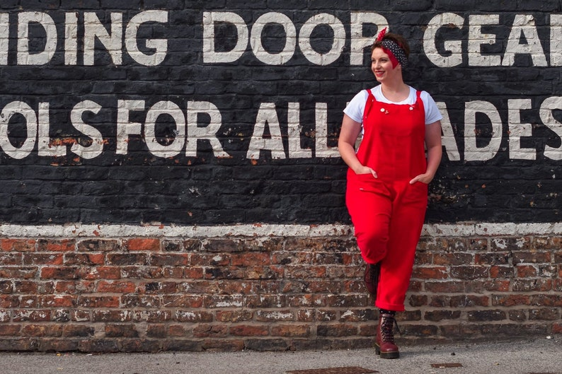 MBJM Adult Heyday Dungarees Overalls PDF Sewing Pattern image 0