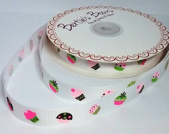 1 Metre Its A Girl printed Grosgrain Ribbon,25mm,hair,cake,craft,gift Wrap.