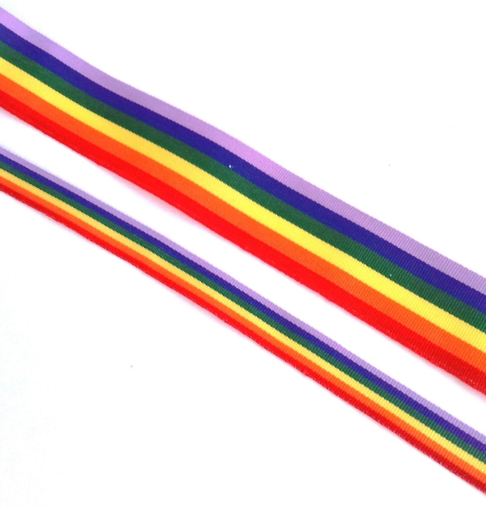 Gay rainbow ribbons