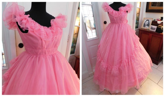Vintage Pink Ball Gown Civil War Style Gown| Victo