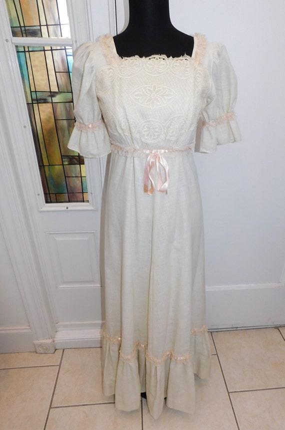 1970s Ryan Keith California disco maxi dress