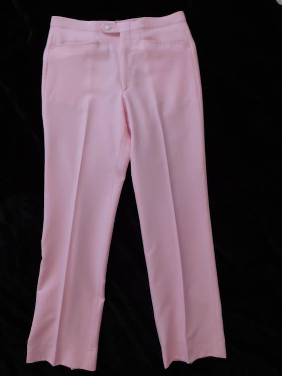 Men's Pink Pants/ 1970's Pink Golfing Pants/ Sansa