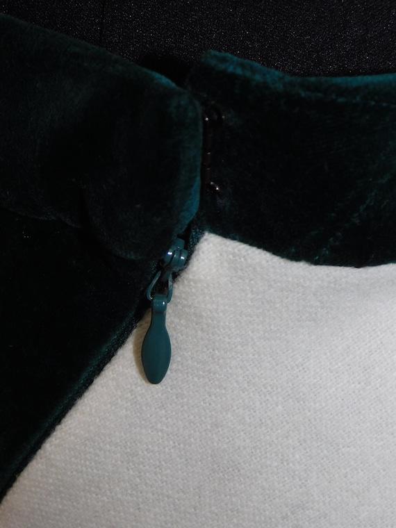 Vintage 70s Diagonal Wool Blend Maxi Skirt Velvet… - image 7