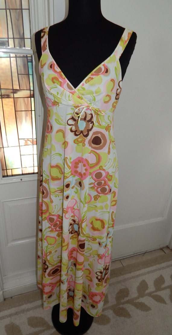 Vintage 70s Sears Long Pin Up Nightgown - image 2