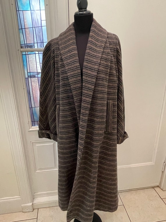 Vintage Wool Swing Coat Duster Coat Swing Coat Lar