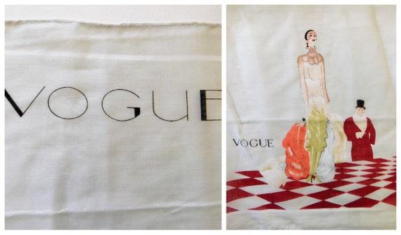 Rare 1920s Vogue Handkerchief Art Deco Vogue December 1925 Art print by Eduardo Benito Flapper Handkerchief