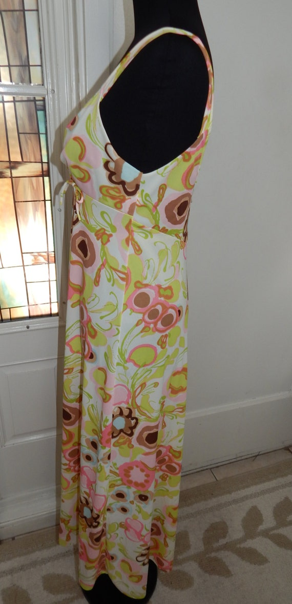 Vintage 70s Sears Long Pin Up Nightgown - image 3