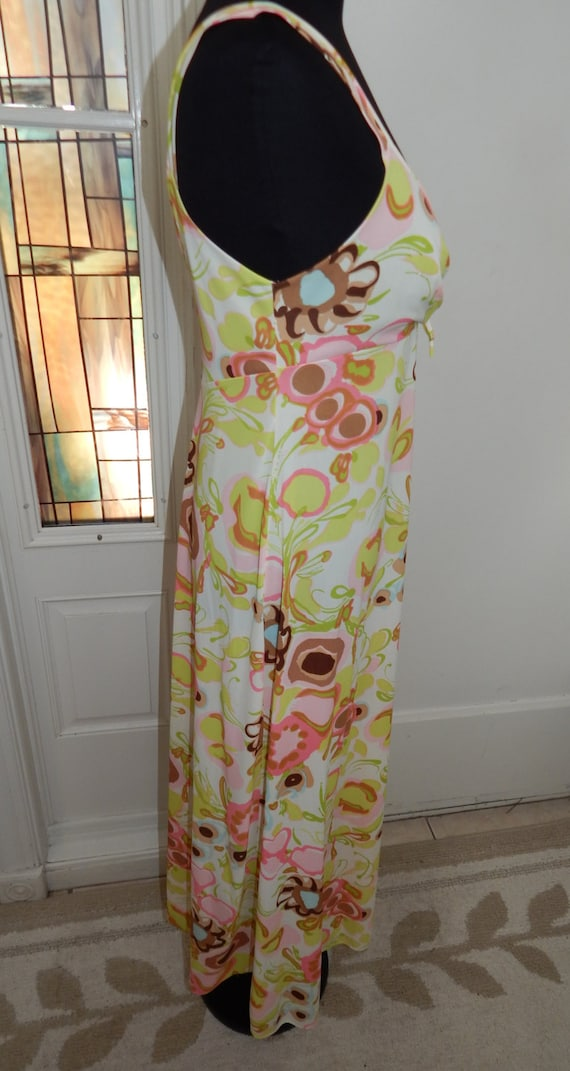Vintage 70s Sears Long Pin Up Nightgown - image 5