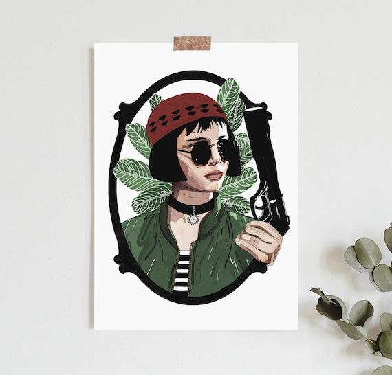 Mathilda Leon The Professional Inspired Print Llustration Etsy