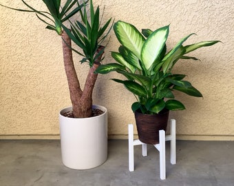 Mid Century Plant Stand, Modern Plant Stand, Rustic Plant Stand Home Decor, Retro Home Decor