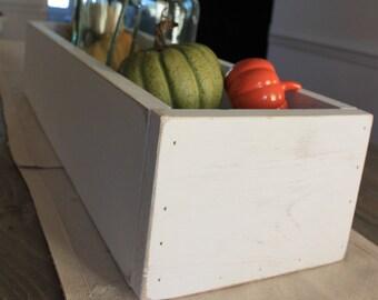 wood table planter- distressed table decor- wood decor- tabletop planter