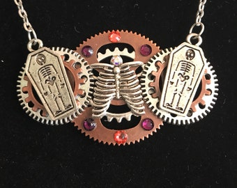 Steampunk Ribcage Necklace