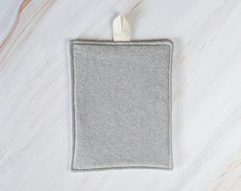 Steel Gray Linen Modern Pot Holder
