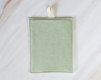 Seafoam Green Linen Modern Pot Holder