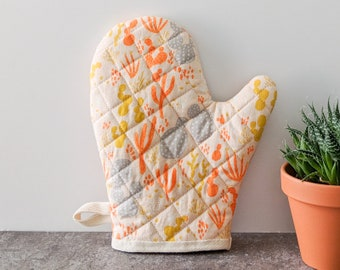 Oven Mitt, Sunrise Cactus Print, Kitchen Decor, Housewarming Gift, Best Friend Gift