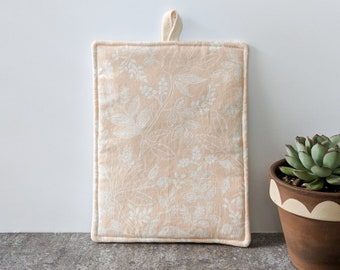 Light Pink and White Floral Rifle Paper Co Potholder