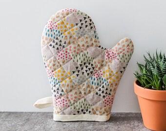 Oven Mitt, Rainbow Floral, Kitchen Decor, Housewarming Gift, Best Friend Gift