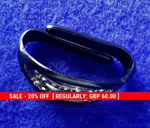 Unique Vintage 1930s 'Art Deco Scarf Ring'