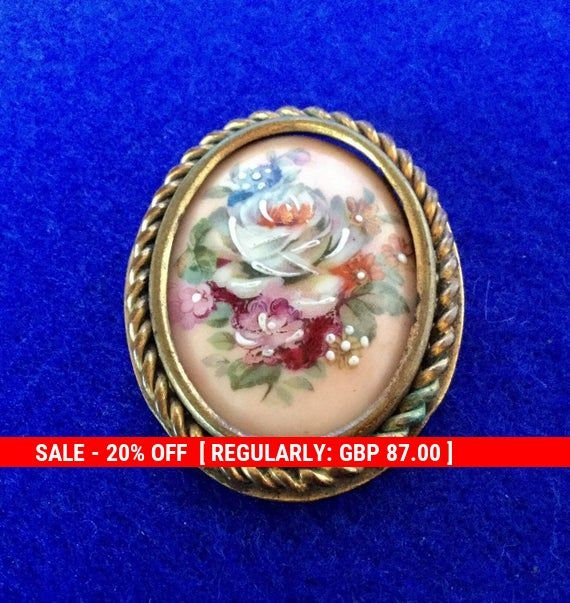 1920s Antique French Limoges Hand Painted Floral P