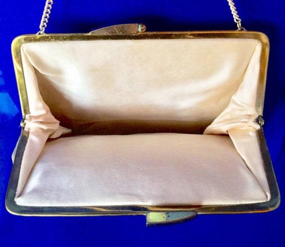 Vintage 1950s Silver Lame Handbag - image 5