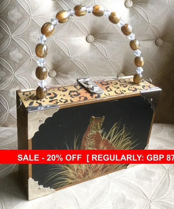 Cigar Box Bag' , Leopard Bag