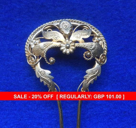 Edwardian Art Nouveau Hat, Shawl or Hairpin