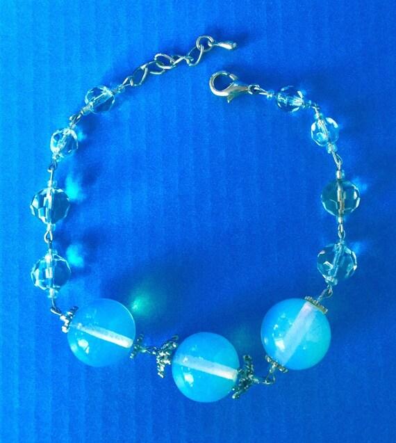 LADY MOON stone marquise pendant Cristaux bicone czech flash pearls Collier Pierre de Lune Arc-en-ciel 925 Marquise faceted moonstones