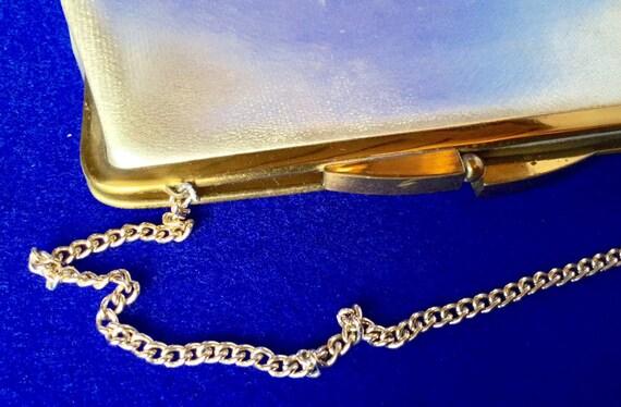 Vintage 1950s Silver Lame Handbag - image 3