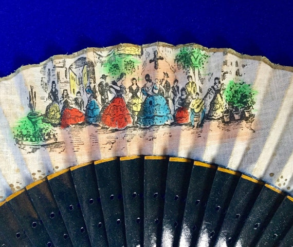 Antique Vintage 1950s Screen Printed Wood & Starch