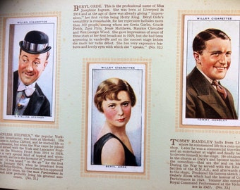 Wills Cigarette Cards Radio Celebrities Series One and Series Two 1934 & 1935