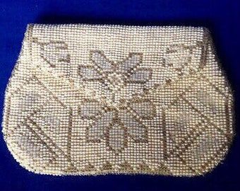 French Art Deco 1920s Beaded Clutch Purse