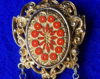 Renaissance style Brooch with Chain Tassels