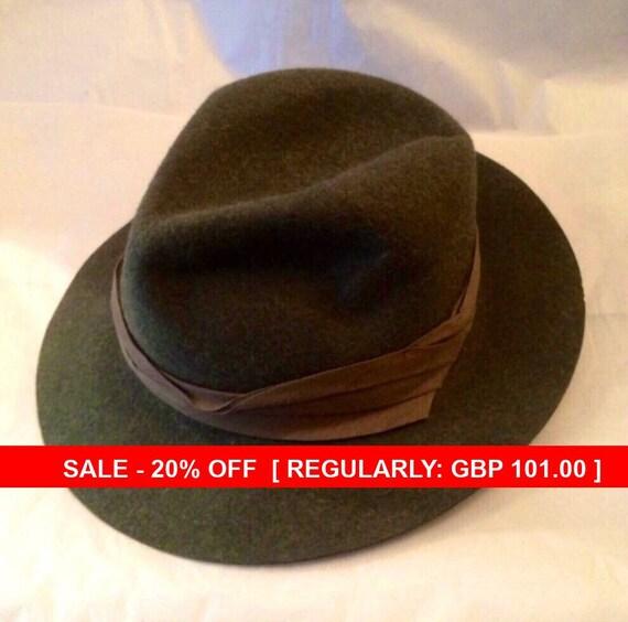 Christy's Hand-Made Hunter Safari Felt Hat