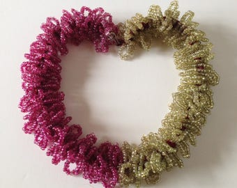 Pink & Green Beaded 'Lei' 1930s Necklace