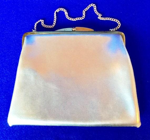 Vintage 1950s Silver Lame Handbag - image 2