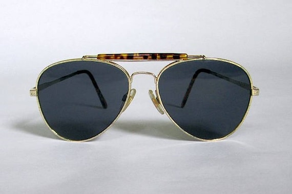 1980s Aviators  ||  Vintage 80s Animal Print Sungl