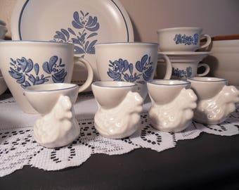 Vintage Pfaltzgraff Yorktowne Dinnerware Set Replacement Dinnerware Vintage Retro Country Charm Kitchen Decor Blue and White & Yorktowne dishes | Etsy
