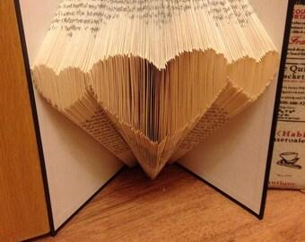 3 Hearts Folded Book Art Pattern