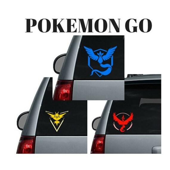 Window Fender Car Any Size Pokemon Go Team Valor Mystic Instinct Decal Sticker