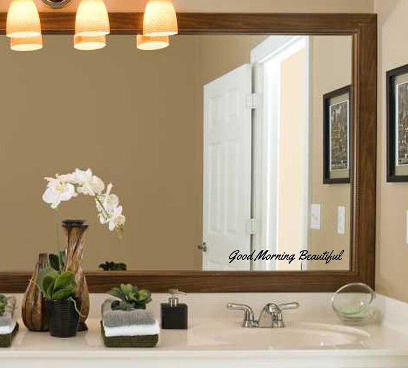 Guten Morgen schönes Badezimmer Spiegel Aufkleber   Etsy