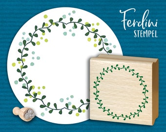 Wreath of leaves Stamp
