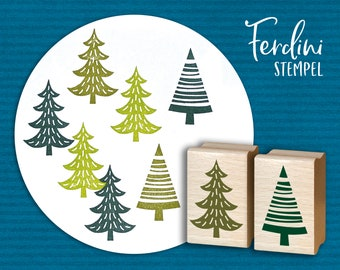 Fir Trees 2 stamps