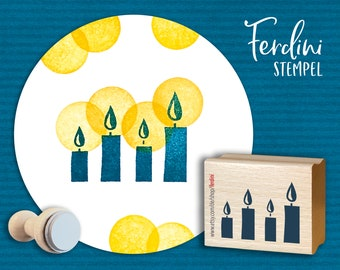 4 Candles + Wreath of Light 2 stamps