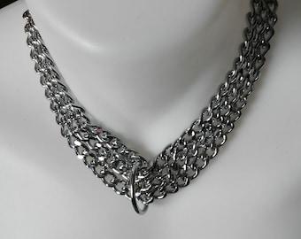 BDSM Collar, Chain Collar, Collar and Lead, Mens Chain Collar and Lead, BDSM, BDSM Chain Collar, Chain Collar, Collar and Lead