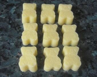 9 Cocoa Butter Bath Melts - teddy bears 85g - Bath Oils,