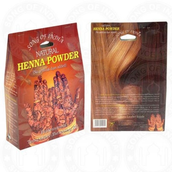 Large Song Of India Natural Henna Tattoo Kit Hair Skin 300gm Indian Body Art