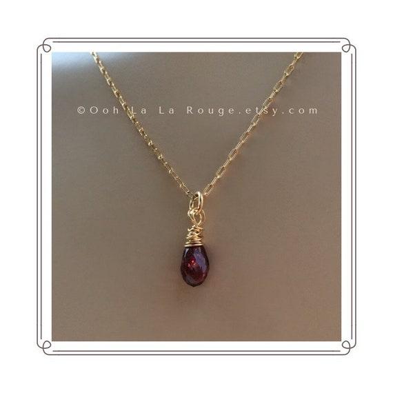 Rhodolite garnet chain necklace