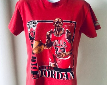 b80165c0007 Vintage 90s Michael Jordan 23 Chicago Bulls Basketball Shirt Nutmeg Mills  Jordan Graphic T-shirt