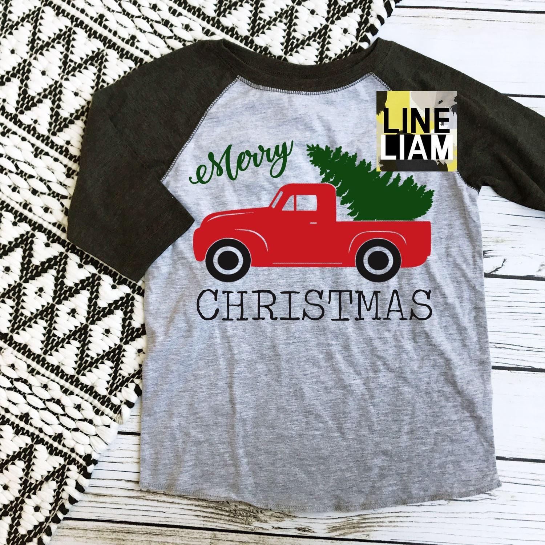 christmas truck shirt merry christmas yall kids christmas   Etsy